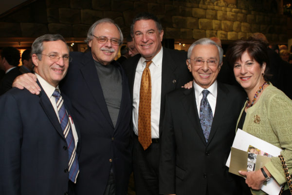 Norm Pappas, Bob Naftaly, Larry Jackier, Emory Klein and Susie Pappas