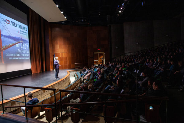 With vulnerability, inspiration and humor, Kevin shared his story in front of hundreds of people at the Detroit Country Day Seligman Performing Arts Center.